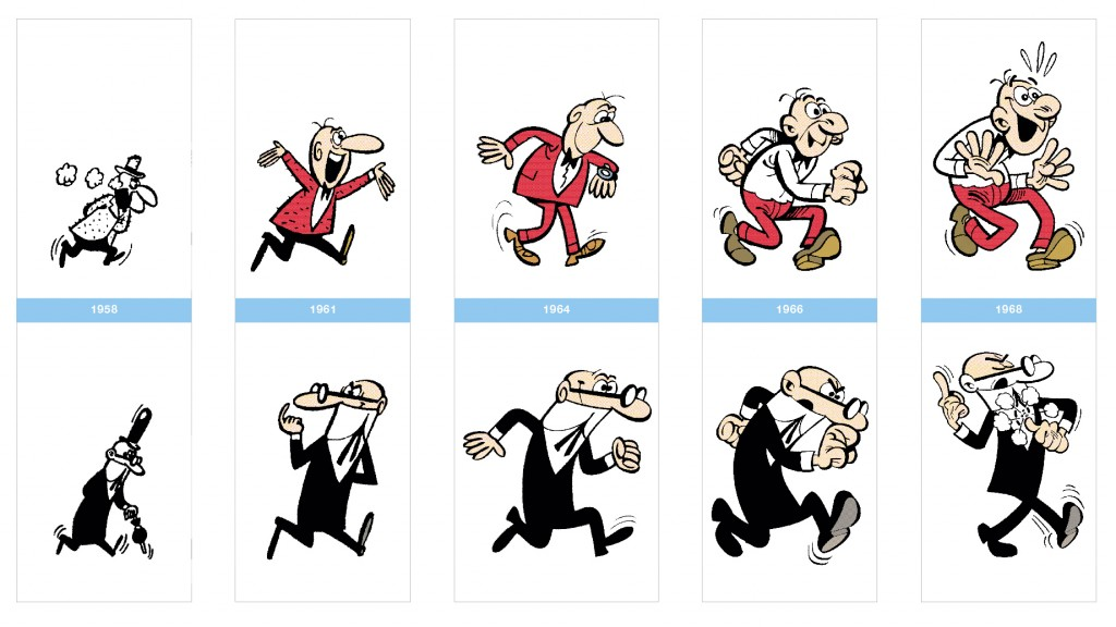 Evolucion_Mortadelo-Filemon